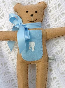 Blue Tooth Fairy Pocket Bear