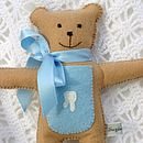 Boy's Tooth Fairy Pocket Bear