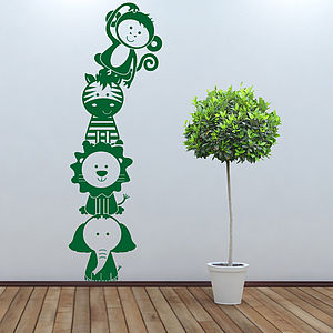 Jungle Animal Stacker Wall Sticker Decal - children's room accessories