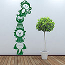 Thumb jungle animal stacker wall sticker decal