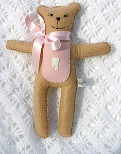Girl's Tooth Fairy Pocket Bear - soft toys & dolls