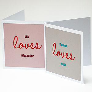 Personalised Anniversary Valentine Couple Card - winter sale