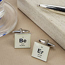 Beer Periodic Table Cufflinks