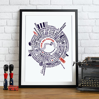 'The Big Smoke' Radial London Typographic Story Print