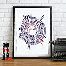 'The Big Smoke' London Typographic Print