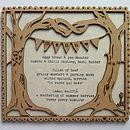 Wedding Menu Personalised Wooden Keepsake