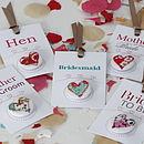 Thumb bridal party badges