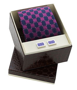 Stylish Silk Tie And Cufflink Boxed Set - ties & tie clips