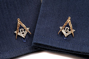 Masonic Cufflinks - men's jewellery