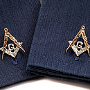 Masonic Cufflinks With G