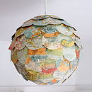 Random World Trip Map Lampshade