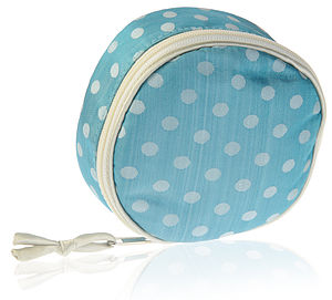 Asari Silk Dotty Jewellery Case - jewellery storage & trinket boxes