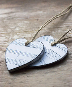Musical Notes Heart - decorative accessories