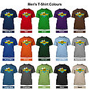 Personalised Best Dad In The World T-Shirt Colour Choices
