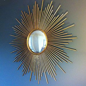 Gold Sunburst Wall Mirror - home accessories