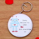 Personalised Robot Bottle Opener Keyring, Dad