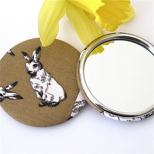 Easter Bunny Pocket Mirror - beauty accessories