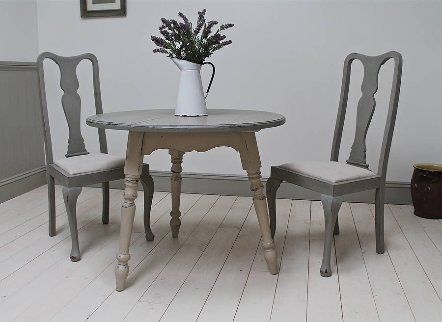 set of four painted high back dining chairs by distressed but not
