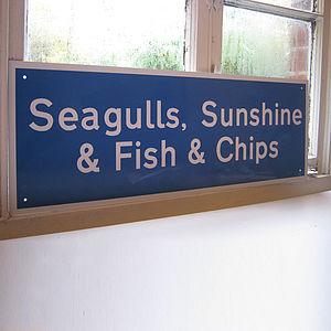 'Seagulls Sunshine & Fish & Chips' Sign