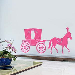Princess Horse Drawn Carriage Wall Sticker - baby's room