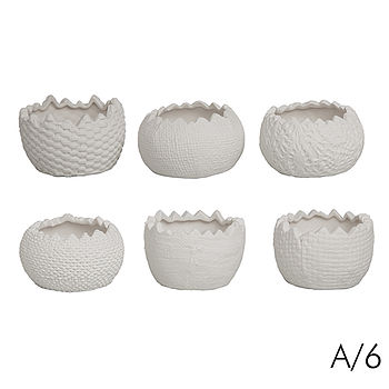 Set Of Six Porcelain Egg Cups
