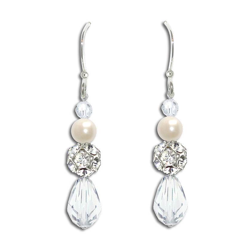cef36b07257cf8 sylvia vintage style pearl & crystal earrings by chez bec ...