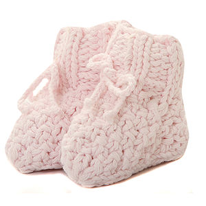 Hand Knitted Baby Booties - socks, tights & booties