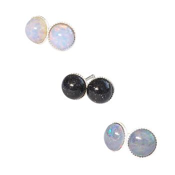 Nebula Tiny Semi Precious Stone Earrings