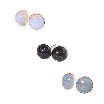 Nebula Tiny Semi Precious Stone Earrings