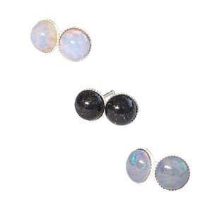Nebula Tiny Semi Precious Stone Earrings - earrings