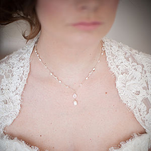 Isabella Pearl And Crystal Necklace