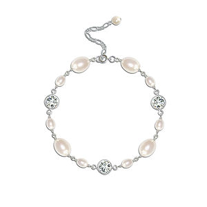 Isabella Pearl And Crystal Bracelet