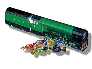 Flying Scotsman Train Tin Filled With Toffees - sweets & chocolate