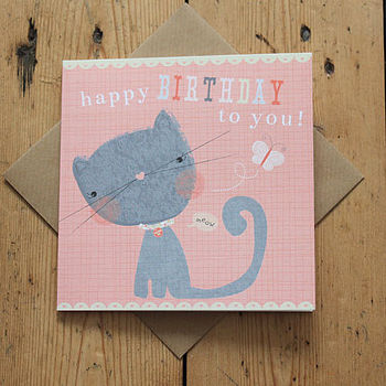 Child's Kitty Birthday Card