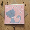 Child's Kitty Birthday Card