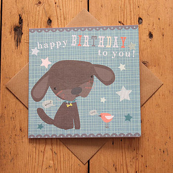 Child's Puppy Birthday Card