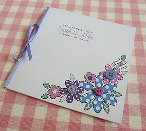 Flora Personalised Wedding Stationery - engagement & wedding invitations