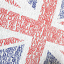 'All Things British' Typographic Art Print