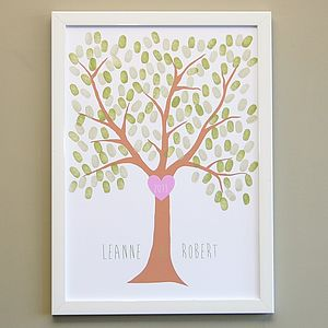 Love Heart Fingerprint Tree Poster - paintings & canvases