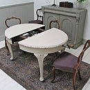 Distressed Mahogany Extending Dining Table
