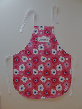 Personalised Child's Flopsy Floral Apron