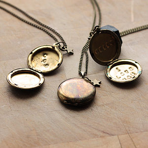 Personalised Brass Locket Necklace - women's jewellery