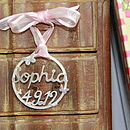Handmade Baby's Christening Silver Decoration