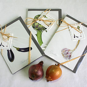 Pack Of Three ' Mediterranean Veg. ' Cards