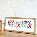 Personalised 'True Love' Coordinates Print