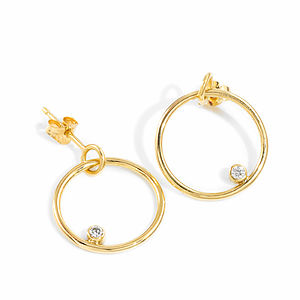 Gold Hoop Diamond Earrings - fine jewellery