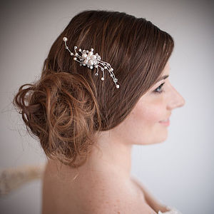 Florence Pearl & Crystal Vintage Hair Comb - hair accessories