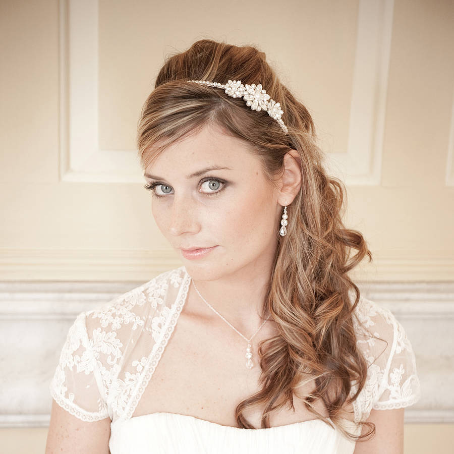 Vanessa Vintage Style Pearl Bridal Headband By Chez Bec