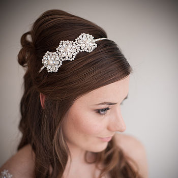 Cecily Pearl And Crystal Wedding Headband