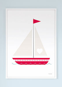 Love Boat Print - living room